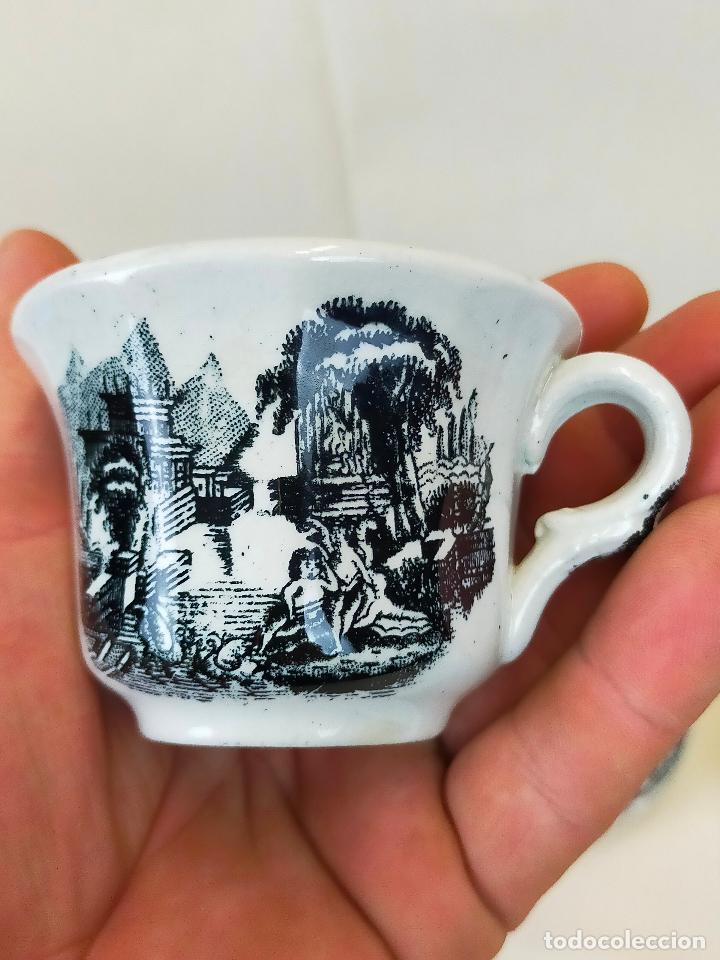 Antigüedades: antiguo juego de cafe de 6 tazas y seis platos, sellados pickman - Foto 5 - 265681414