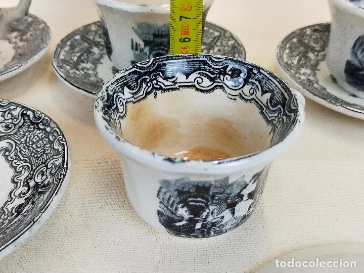 Antigüedades: antiguo juego de cafe de 6 tazas y seis platos, sellados pickman - Foto 8 - 265681414