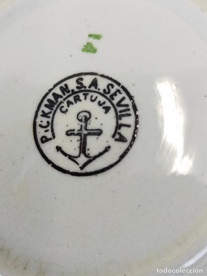Antigüedades: antiguo juego de cafe de 6 tazas y seis platos, sellados pickman - Foto 7 - 265681414