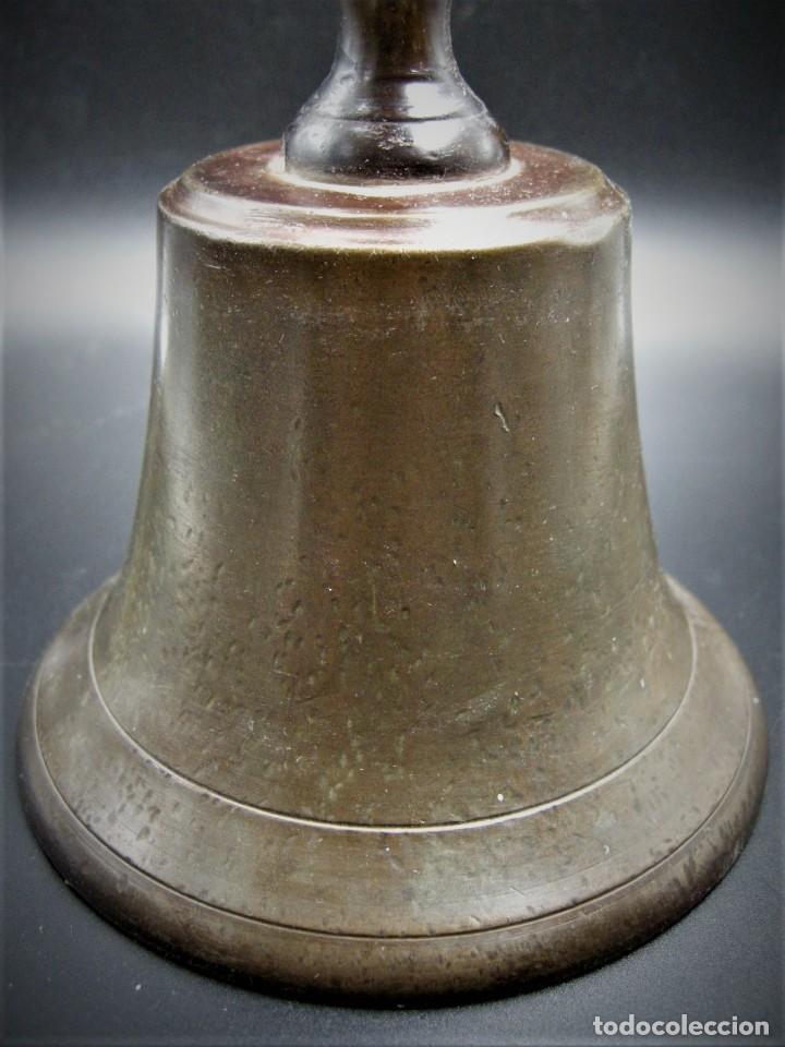 Antigüedades: IMPORTANTE CAMPANA DE CONVENTO EN BRONCE Y HIERRO S.XVIII - Foto 4 - 265689704