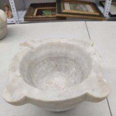 Antigüedades: MORTERO DE MÁRMOL DEL SIGLO 19. Lote 284758388