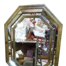 Antigüedades: ESPEJO MARCO DE HIERRO REPUJADO. Lote 265732829