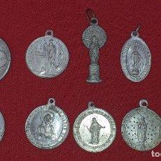 Antigüedades: LOTE DE 10 MEDALLAS RELIGIOSAS. Lote 265734679