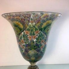Oggetti Antichi: JARRON CRISTAL ESMALTADO. Lote 265749499