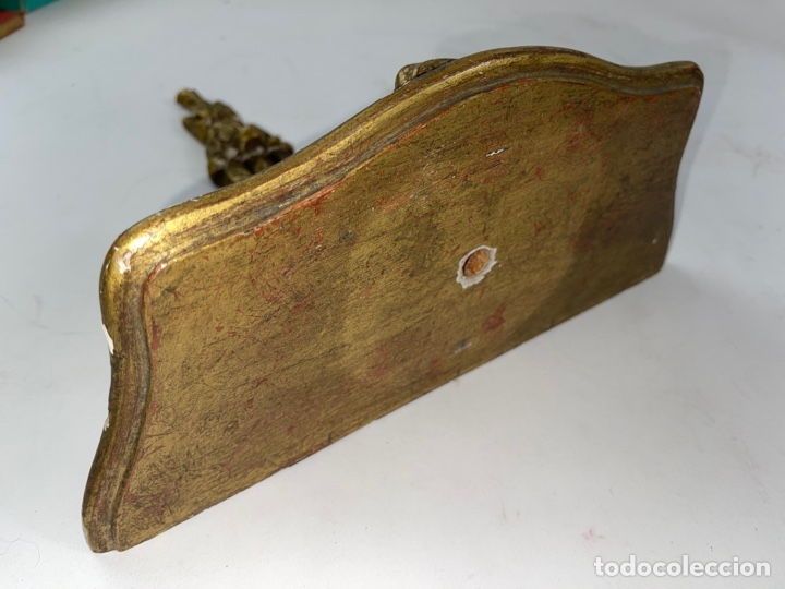 Antigüedades: MENSULA DE MADERA DORADA. S.XIX. - Foto 4 - 265755244