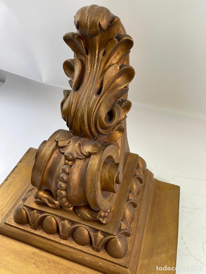 Antigüedades: MENSULA DE MADERA Y ESTUCO DORADA. S.XX. - Foto 3 - 265755449