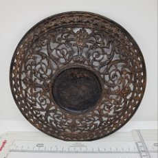 Antigüedades: MODELO PARA MOLDE DE CERÁMICA O PLATO DE HIERO FUNDIDO. Lote 265790249