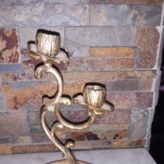 Antigüedades: CANDELABRO BRONCE Y MARMOL. Lote 265795949