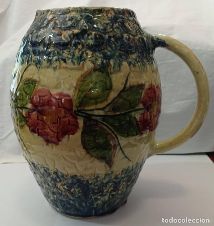 Antigüedades: JARRA CERAMICA ESMALTADA MULTICOLOR - Foto 2 - 265800644