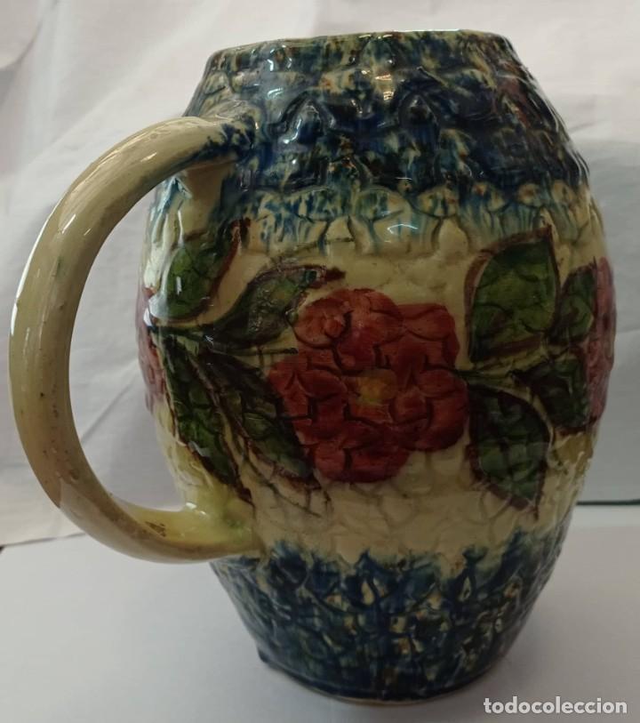 Antigüedades: JARRA CERAMICA ESMALTADA MULTICOLOR - Foto 4 - 265800644