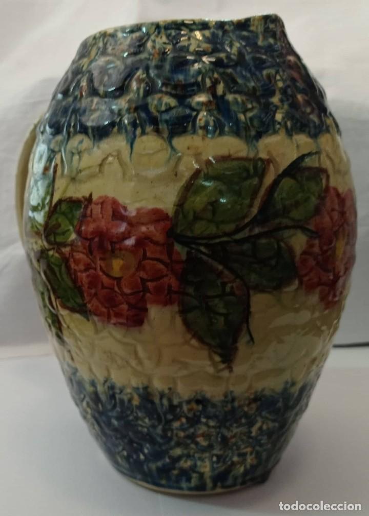 Antigüedades: JARRA CERAMICA ESMALTADA MULTICOLOR - Foto 6 - 265800644