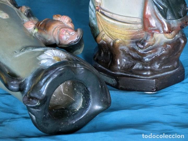 Antigüedades: ANTIGUA Y PRECIOSA PAREJA DE FLOREROS MODERNISTAS - NUMERADOS - JARRONES ART NOUVEAU - FRANCESES - Foto 6 - 265802304