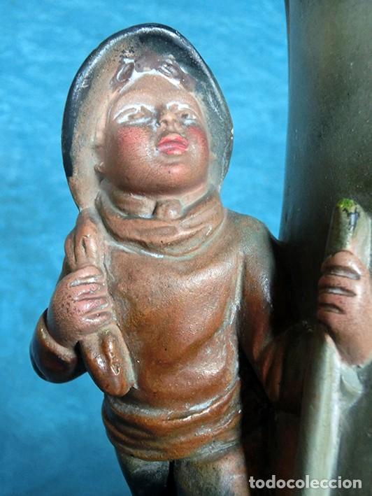 Antigüedades: ANTIGUA Y PRECIOSA PAREJA DE FLOREROS MODERNISTAS - NUMERADOS - JARRONES ART NOUVEAU - FRANCESES - Foto 27 - 265802304