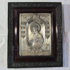 Antigüedades: RELIEVE EN COBRE BAÑADO DE NUESTRA SEÑORA DE LA ESPERANZA MACARENA SEVILLA. Lote 265836174