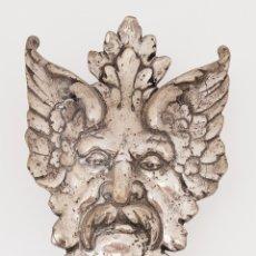 Antigüedades: BACO,DIONISOS,FAUNO MASCARON PLATA BAJA.....42CM X 20CM X 16CM. Lote 265907088