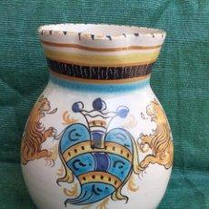Antiquités: JARRA DE BOLA, TALAVERA. RUIZ DE LUNA. SELLADO. ALTURA 28 CM. Lote 265969823