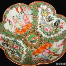 Antigüedades: ANTIGUO PLATO DE PORCELANA CHINO FAMILIA ROSA CANTON. Lote 265999328
