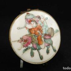 Antigüedades: ANTIGUA CAJITA DE PORCELANA CHINA. Lote 266001833
