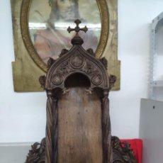 Antiquités: ESPECTACULAR CAPILLA DE MADERA MACIZA MUY TRABAJADA Y ELABORADA DEL SIGLO XIX. Lote 266056003
