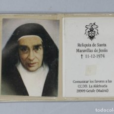 Antiguidades: RELIQUIA EX-INDUMENTIS. SANTA MARAVILLAS DE JESUS. Lote 266060578