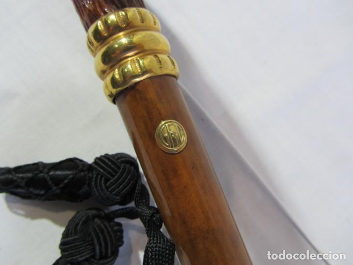 Antigüedades: Paraguas GF y C, madera y asta de hombre - Foto 3 - 266087363