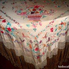 Antigüedades: MANTON DE MANILA DE CANASTAS. Lote 246319145
