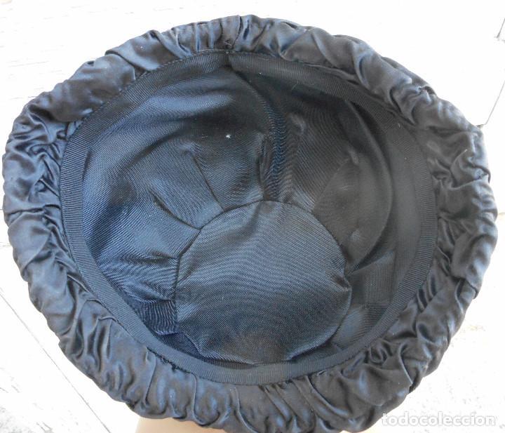 Antigüedades: SOMBRERO CASQUETE DE LOS AÑOS 50 - 56 CM. DIÁMETRO - COLOR NEGRO - Foto 3 - 266145508