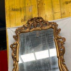 Antiquités: PRECIOSO ESPEJO CORNUCOPIA,MADERA EN PAN DE ORO!. Lote 266223838