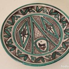 Antigüedades: PLATO - CERÁMICA DOMINGO PUNTER. TERUEL.. Lote 266288698