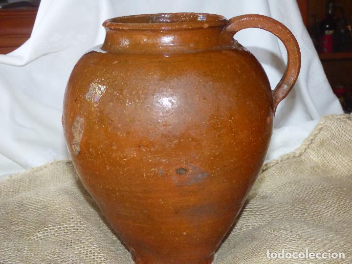 JARRA DE BARRO,CATALÁN. (Antigüedades - Porcelanas y Cerámicas - Catalana)