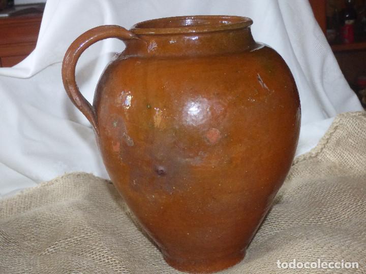 Antigüedades: Jarra de barro,catalán. - Foto 3 - 266392433