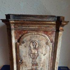 Antigüedades: (ANT-210512)SAGRARIO DE MADERA POLICROMADA MOLDELO FALSO MARMOL ITALIANO - FINALES SIGLO XVIII. Lote 266394963