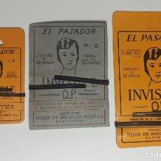 Antigüedades: HORQUILLAS EL PASADOR N°1 - N°2 - N°3. Lote 266433443