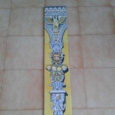 Antigüedades: P12 AZULEJOS ANTIGUOS MODERNISTAS NEOCLASICO PANEL MITOLOGIA. Lote 266435633