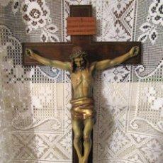 Antigüedades: ANTIGUO Y MAGNIFICO CRISTO CRUCIFICADO GRAN CRUCIFIJO. Lote 266454573