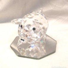 Antigüedades: CERDO PIG CRISTAL SWAROVSKI AÑO 82, BUEN ESTADO. MED. 80 MM. Lote 266465548
