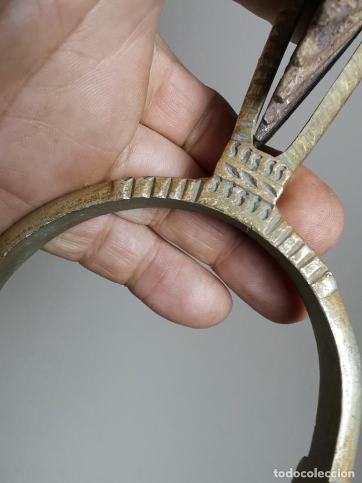 Antigüedades: ANTIGUAS ESPUELAS DE GALA EN BRONCE Y RULINA DE HIERRO FORJADO..P.P.S.XX- SUDAMERICA - Foto 22 - 266506918