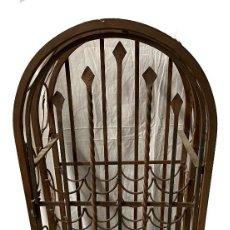 Antigüedades: ANTIGUO BOTELLERO DE FORJA. S. XIX. 130X40X37. Lote 265149474