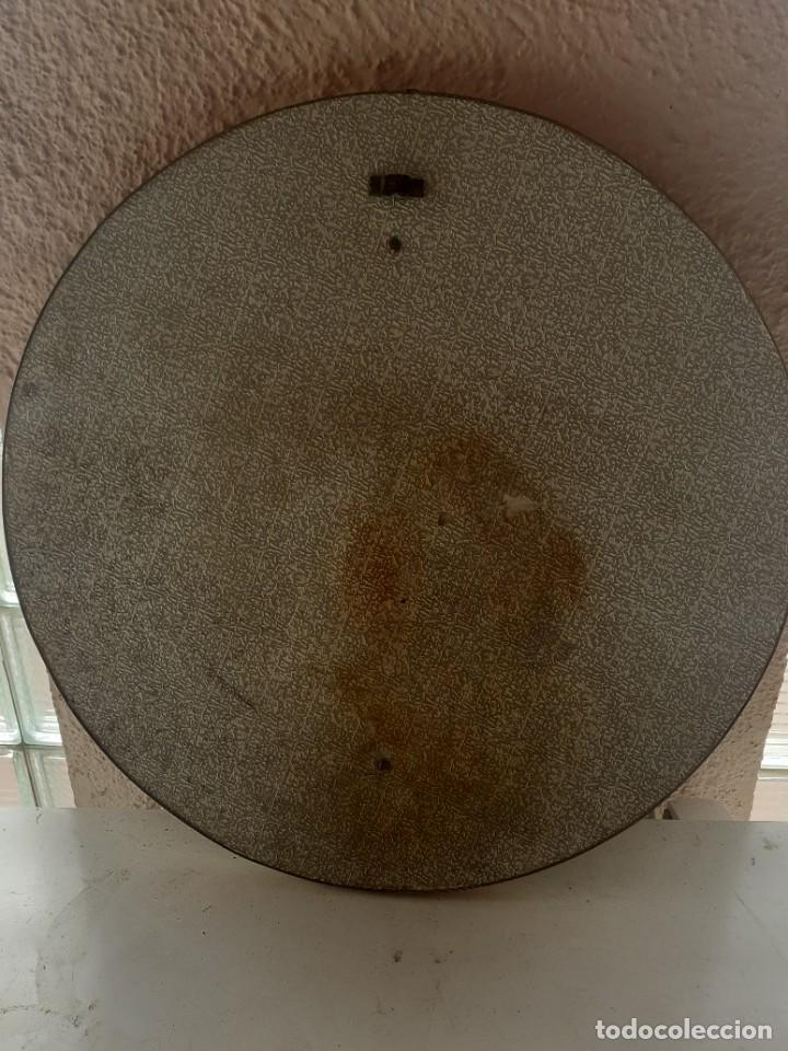 Antigüedades: Espejo latón esmalte diametro 52 - Foto 6 - 266519458
