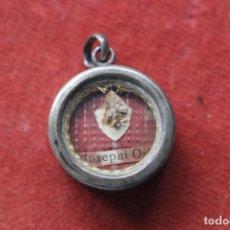 Antigüedades: RELICARIO CON RELIQUIA DE SAN JOSÉ ORIOL. Lote 266549798