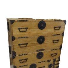 Antigüedades: TANSU ANTIGUO JAPONÉS EN MADERA DE KIRI. Lote 266580403