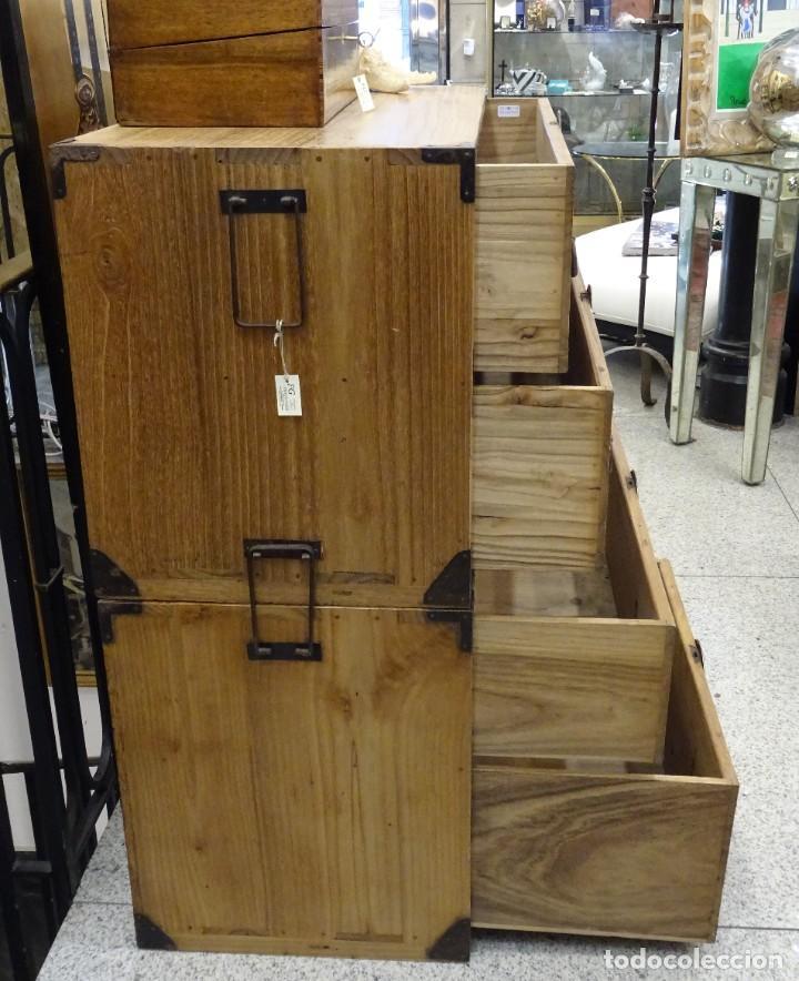 Antigüedades: Tansu antiguo japonés en madera de kiri - Foto 18 - 266580403
