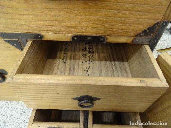 Antigüedades: Tansu antiguo japonés en madera de kiri - Foto 25 - 266580403