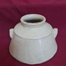 Antigüedades: DE COLECCION,CURIOSO TARRO EN CERAMICA DE FAJALAUZA,(GRANADA),S. XIX. Lote 266738163