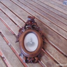 Antigüedades: ANTIGUO Y BONITO ,MARCO, PARA FOTO, ESPEJO O PINTURA EN MADERA TALLADA ,. Lote 266766783