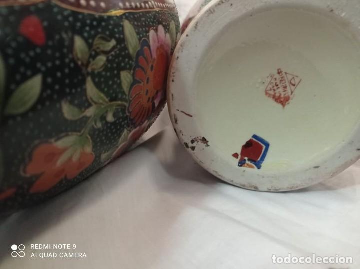 Antigüedades: PAREJA JARRONES CHINOS SELLO ROJO - Foto 4 - 266779914
