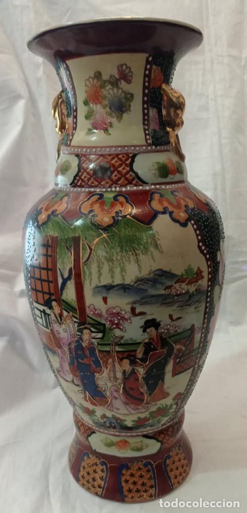 Antigüedades: PAREJA JARRONES CHINOS SELLO ROJO - Foto 5 - 266779914