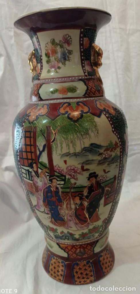 Antigüedades: PAREJA JARRONES CHINOS SELLO ROJO - Foto 6 - 266779914
