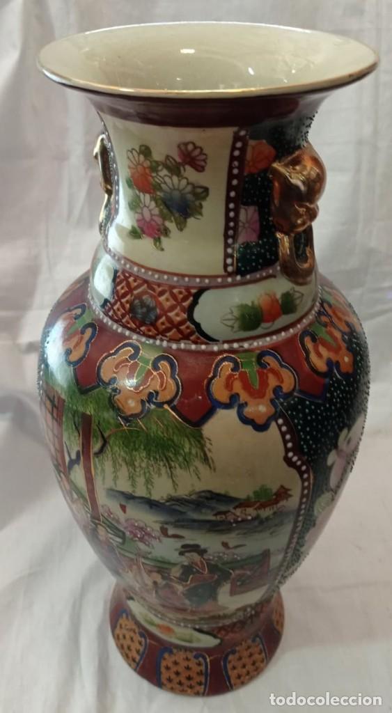 Antigüedades: PAREJA JARRONES CHINOS SELLO ROJO - Foto 7 - 266779914