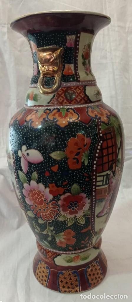 Antigüedades: PAREJA JARRONES CHINOS SELLO ROJO - Foto 8 - 266779914